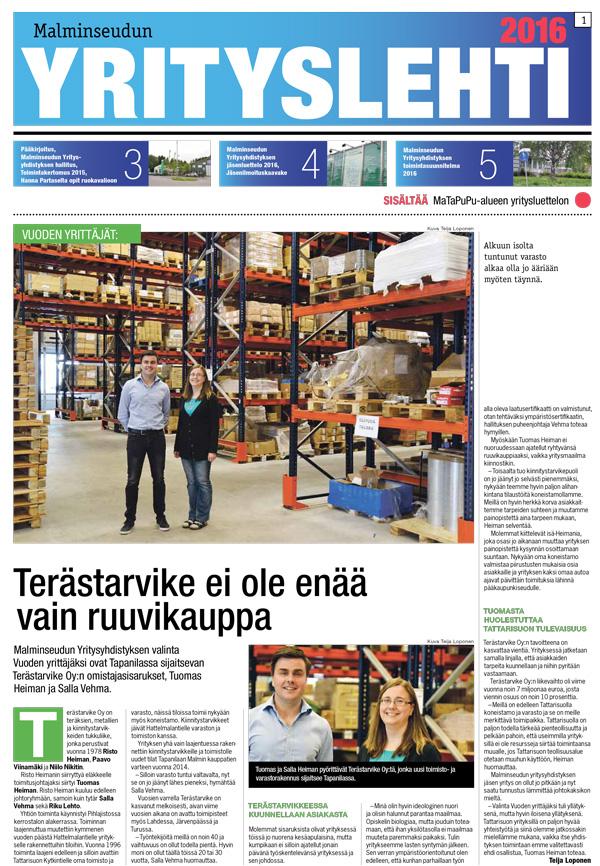 Malminseudun Yrityslehti 2016