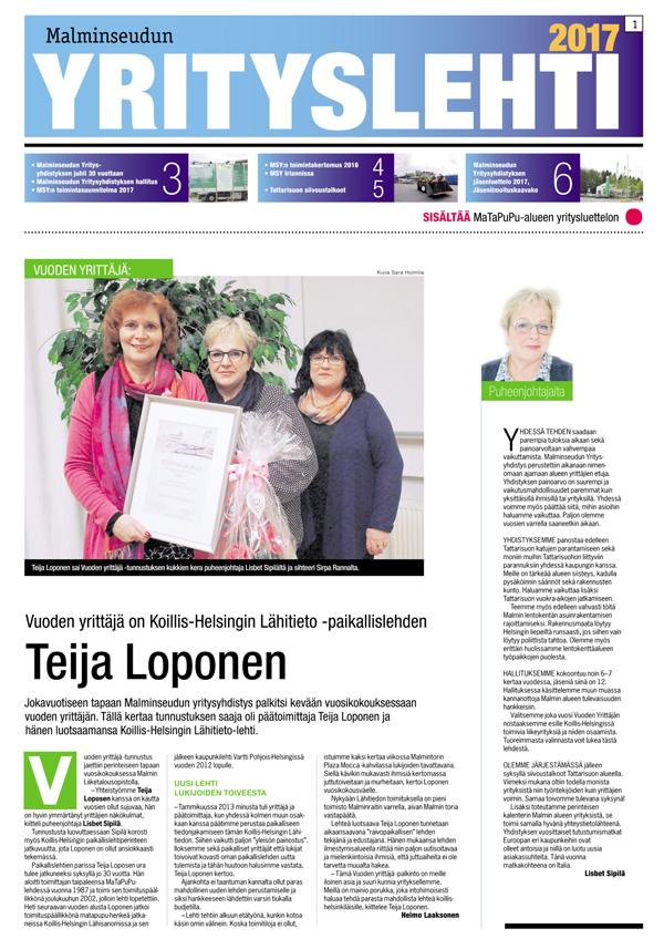 Malminseudun Yrityslehti 2017